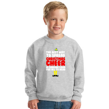 Christmas Cheer Buddy The Elf Kids Sweatshirt