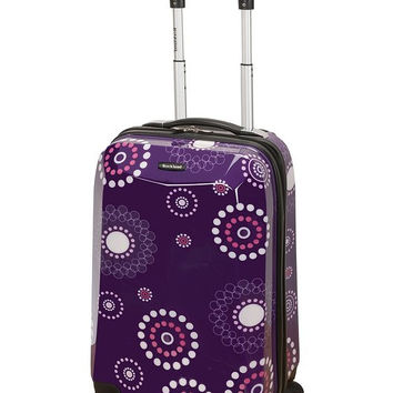 "F151-PURPLEPEARL 20"" Polycarbonate Carry On Luggage Set"