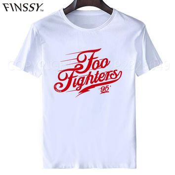 2017 New Fashion Foo Fighters t shirt Hard Rock And Roll Band T Shirts FF Letters Printed Dave Grohl Guitarist Nirvana T-shirt