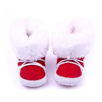 Winter Warm Snow Boots Fleece Soft Soled Crib Baby Shoes Infant Sneakers Footwear Crib