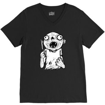 zombie knife V-Neck Tee