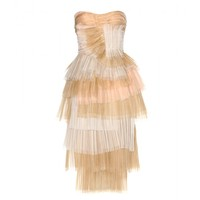 Tiered silk dress