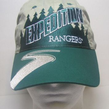 Expedition Rangers green/gray baseball cap hat Suntex one size 100% Cotton