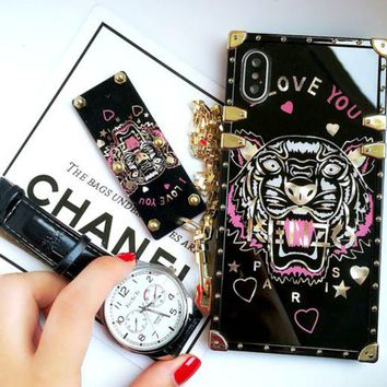 DCCKJ1A Gucci print phone shell phone case for Iphone 6/6s/6p/7p/7/8/8p/x