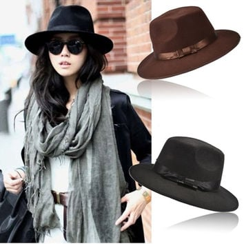 New Unisex Women Vintage Blower Jazz Hat Trilby Cap Fedora Style Hats  Z_G = 1957996676