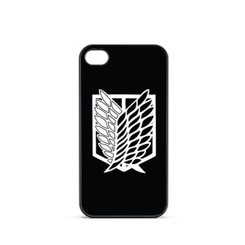 Attack on Titan Scouting Logo Black iPhone 4 / 4s Case