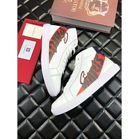 Givenchy 2019 early spring new stitching letters LOGO high help men's shoes white