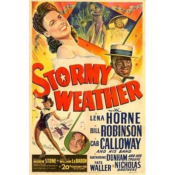 Stormy Weather Movie poster Metal Sign Wall Art 8in x 12in