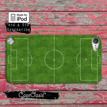 Soccer Field Futbol Football FIFA Cute Green Cool Case iPod Touch 4th Generation or iPod Touch 5th Generation Rubber or Plastic Case