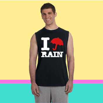 i love rain Sleeveless T-shirt