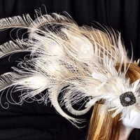 Ivory feather American tribal style headband headdress