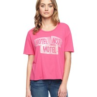 Sequin Banner Message Cropped Tee by Juicy Couture