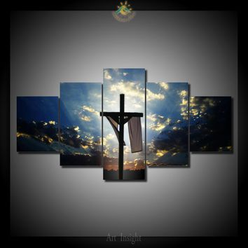 Easter Cross Jesus Christian Canvas