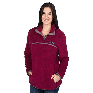 Aspen Pullover in Cranberry by Lauren James - FINAL SALE