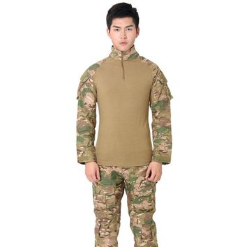 Hunting Camouflage Tights Set Special Tights Tactical Camouflage Outdoor Tactical Clothes Polyester Fiber Tactical Suit HOT
