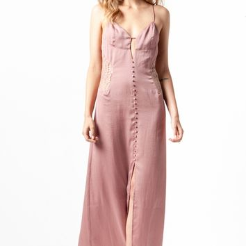 Tularosa Genevieve Slip Dress in Dusty Rose