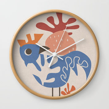 Wondering Rooster Wall Clock by Mirimo