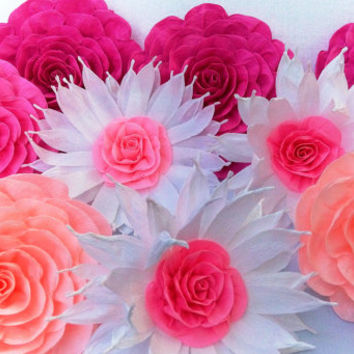 10 giant paper flowers kate bridal shower spade baby shower large paper flowers birthday party paper flowers wall backdrop