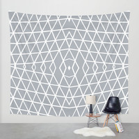 Geo Outline Grey Wall Tapestry by Project M