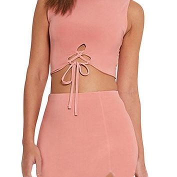 Pia Sleeveless Bandage Matching Set