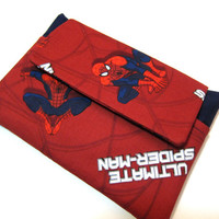 SALE 15% Off, Kindle HDX Sleeve / Kindle Fire Case / Kindle Paperwhite / Nook HD / Kindle Keyboard / Samsung Galaxy / Ipad / Spiderman
