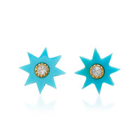 Turquoise Starburst Stud Earrings | Moda Operandi
