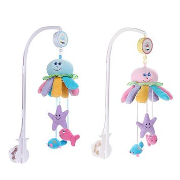 Baby Toys Mobile For Baby Crib Bed Rattles Set Octopus Bed Bell Music Box Infant Rattle Toys For Children Newborns