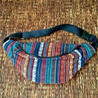 Festival Tribal Fanny pack Boho Styles belt belly Pouch Travel hip phanny waist bag Ethnic Ikat Hippie Bohemian Hipster stripes orange men