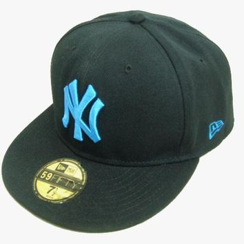 ESBON New York Yankees New Era MLB Authentic Collection 59FIFTY Cap Black-Blue