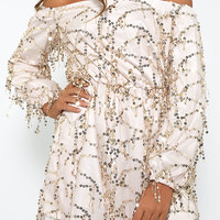 Glam To The Bone Dress - Gold