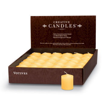 Votive Candles - 36/box | Honeysuckle