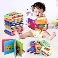 Baby Toy Infant Sun Cloth Book Toys Doll Early Development Books Toy Learning & Education For 0-3Y Soft Unfolding Activity Books