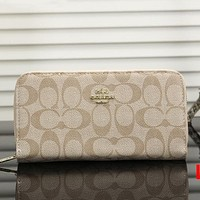 Coach Women Leather Fashion Zipper Purse Wallet