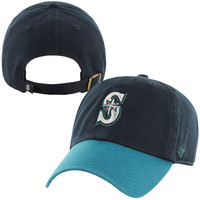 Men's Seattle Mariners '47 Brand Navy Basic Logo Clean Up Game Adjustable Hat