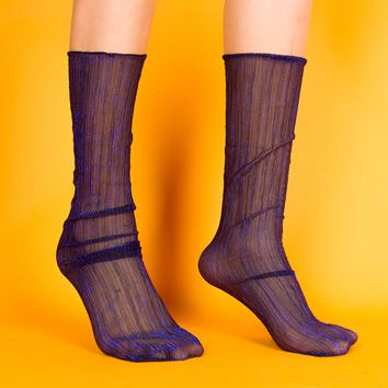 Mona Sheer Sock | Blue