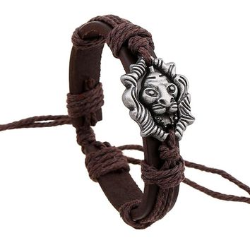 Lion Leather Bracelet