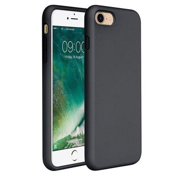 DCCKRQ5 Miracase iPhone 8 Silicone Case, iPhone 7 Silicone Case Liquid Silicone Gel Rubber Case Full Body Protection Shockproof Cover Case Drop Protection for Apple iPhone 7/ iPhone 8(4.7') (Black)