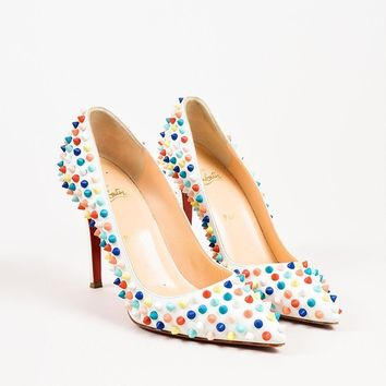 PEAP3D5 Christian Louboutin Multicolor Spiked Pigalle Pumps