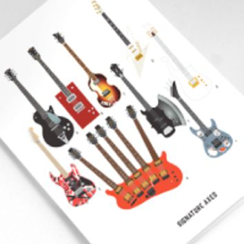 Signature Axes Greeting Card
