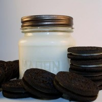 Soy Jar Candle Oreo Cookie Scented Mason Jar Container Candle