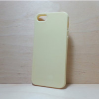 Candy Color TPU Soft Silicone case for iphone 5 / 5s Yellow