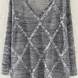 Grey Cut-Out Knitted Sweater