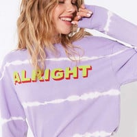 Silence + Noise Alright Tie-Dye Long Sleeve Tee | Urban Outfitters