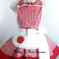 Little Red Riding Hood Apple Apron