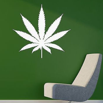 Wall Sticker Vinyl Decal Weed Smoke Rastafarian Cannabis Marijuana Drug (ig1143)