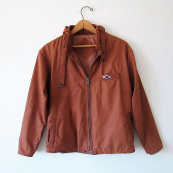 Vintage Brown Dragon Members Only Style Jacket Sz S