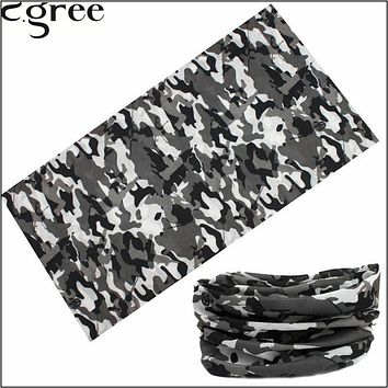 C.gree Novelty Magic Bandana Military hijab Bicycle Multi Functional Skull Flame camouflage Headband Seamless Tube Ring Scarf 58