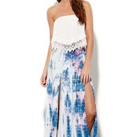 Some Days Lovin Kwando Tie Dye Maxi Skirt - Womens Skirt - Multi -