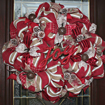 Shabby Chic/ Rustic Christmas Wreath