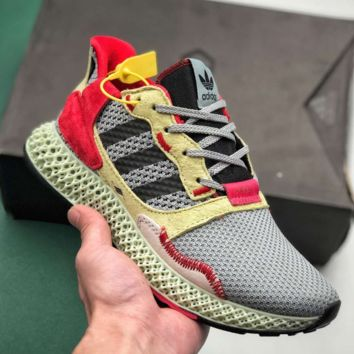 """Adidas Consortium ZX 4000 4D""""White/Grey""""4D Running Sports Sneakers Shoes"""